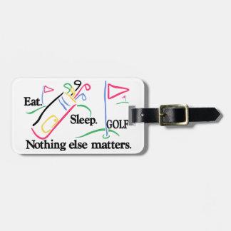 Eat Sleep Golf Luggage Tag
