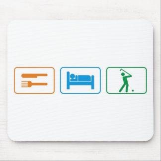 eat sleep golf mousepads
