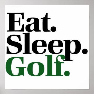Eat. Sleep. Golf. Poster
