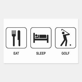 Eat Sleep Golf Stickers