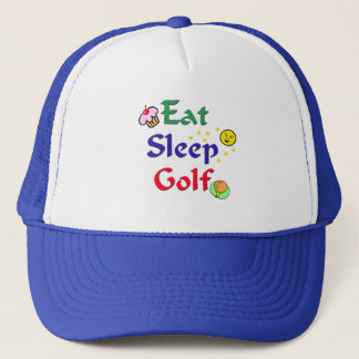 Eat Sleep Golf Trucker Hat