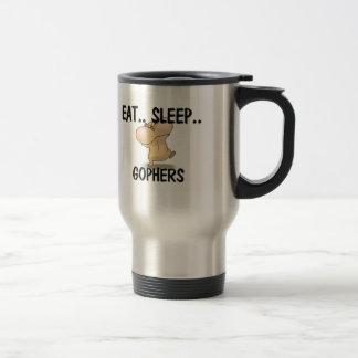 Eat Sleep GOPHERS Travel Mug