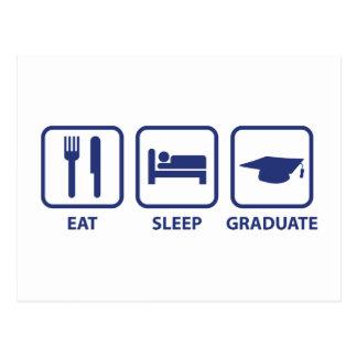 Eat Sleep Graduate Postcard