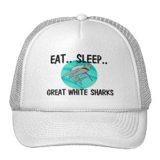 Eat Sleep GREAT WHITE SHARKS Trucker Hat