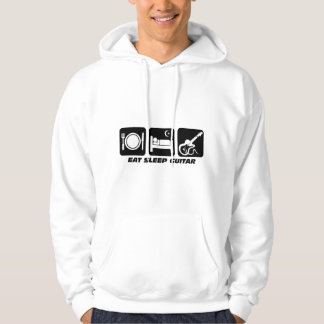 eat sleep guitar hoodie