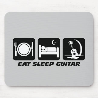 Eat sleep guitar mouse mat