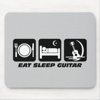 Eat sleep guitar mouse mats