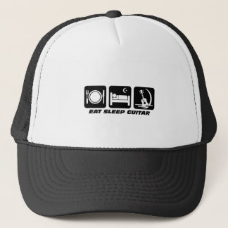 Eat sleep guitar trucker hat
