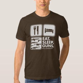 Eat Sleep Guns - White T Shirt