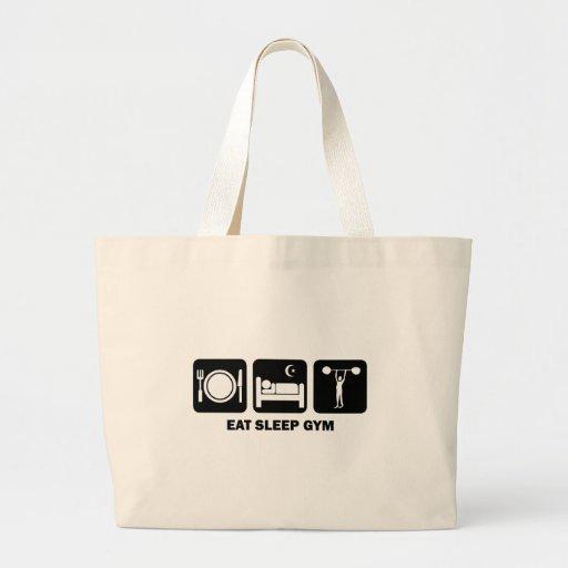eat sleep gym tote bag