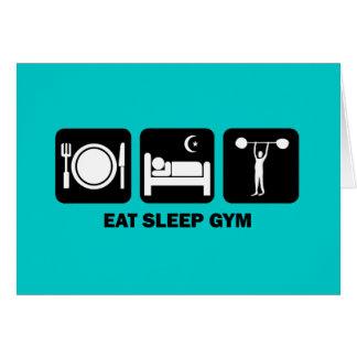 eat sleep gym greeting card