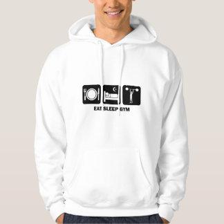 eat sleep gym hooded pullovers