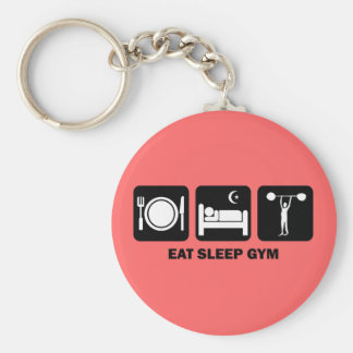 eat sleep gym key ring