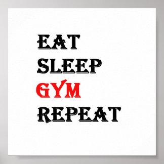 Eat Sleep Gym Repeat Poster