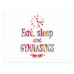 Eat, Sleep Gymnastics Postcard