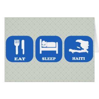 Eat Sleep Haiti Greeting Card