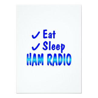 Eat Sleep Ham Radio 14 Cm X 19 Cm Invitation Card