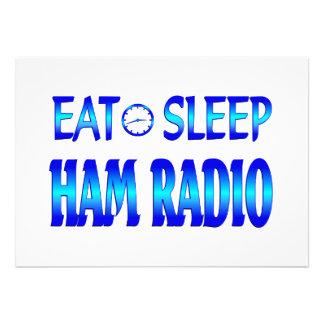 Eat Sleep Ham Radio Custom Invitations