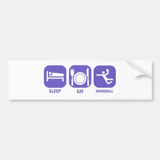 eat sleep handball bumper sticker