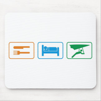 eat sleep -hang glide mousepads