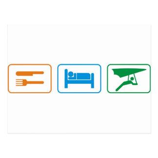 eat sleep -hang glide postcard