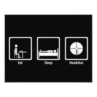 Eat, Sleep, Headshot - FPS Gamer 4.25x5.5 Paper Invitation Card