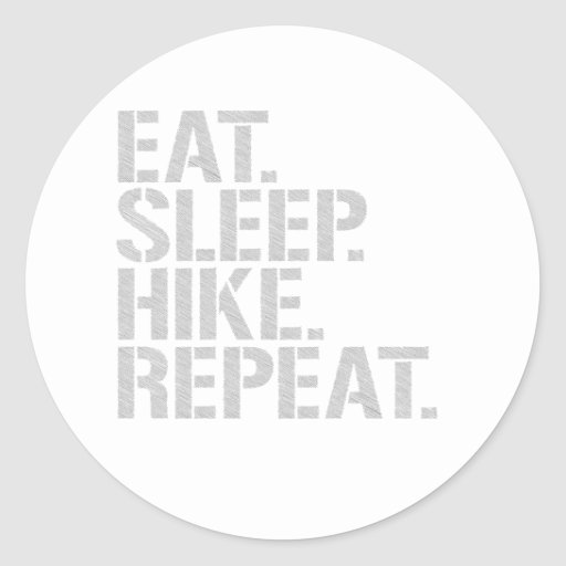 Eat Sleep Hike Repeat Stickers