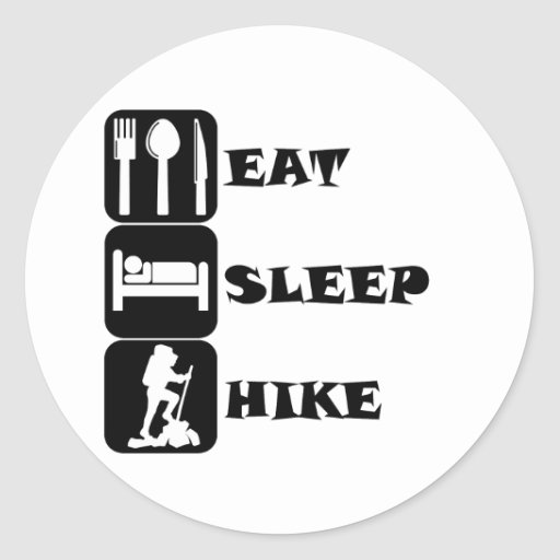 Eat Sleep Hike Stickers