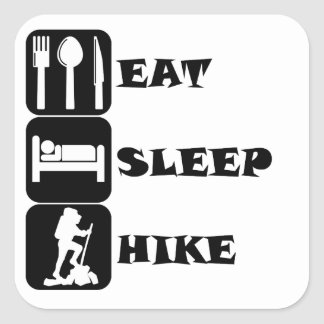Eat Sleep Hike Square Sticker