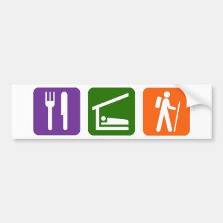 Eat Sleep Hiking Bumper Sticker