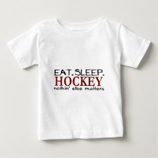 Eat Sleep Hockey Baby T-Shirt