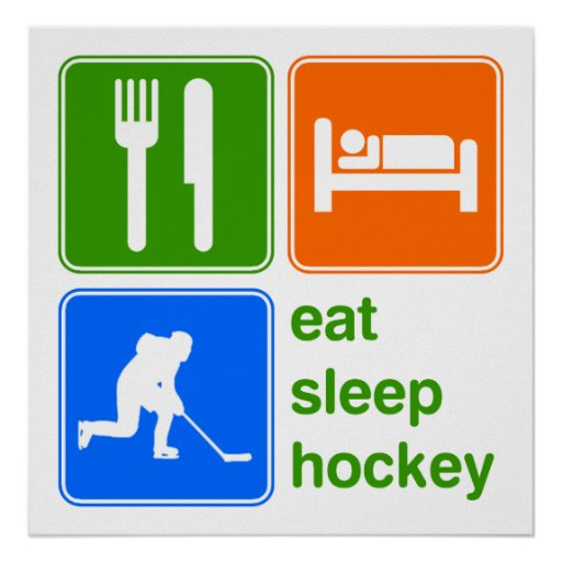 Eat Sleep Hockey Poster