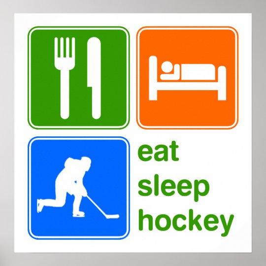Eat Sleep Hockey Poster