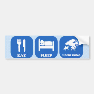 Eat Sleep Hong Kong Bumper Sticker