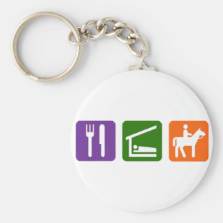 Eat Sleep Horseback Riding Key Ring