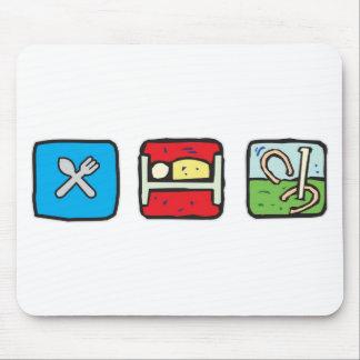 eat_sleep_horseshoes mouse pad