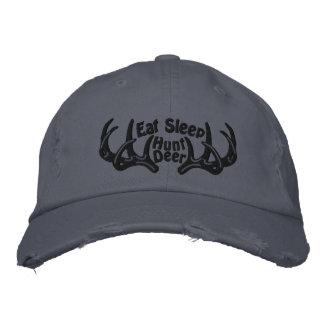 Eat Sleep Hunt Deer Embroidered Cap