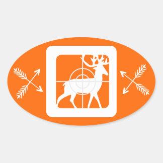 Eat Sleep Hunt Oval Sticker