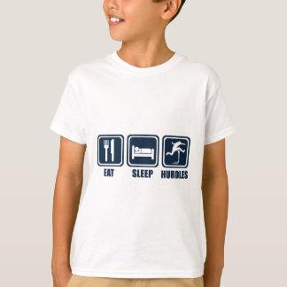 Eat Sleep Hurdles Repeat T Shirt