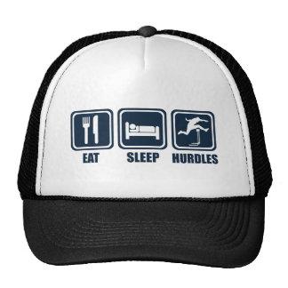 Eat Sleep Hurdles Repeat T Shirt Cap