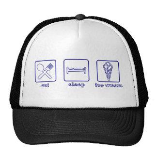 Eat Sleep Ice Cream Hats