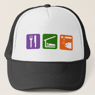 Eat Sleep Ice Fishing Trucker Hat