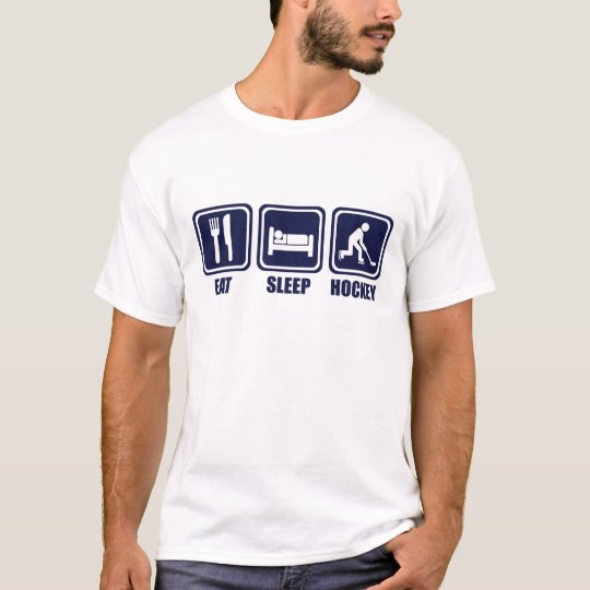 Eat Sleep Ice Hockey Repeat T Shirt