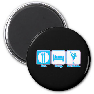 eat sleep ice skate 6 cm round magnet