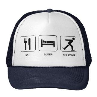 Eat Sleep Ice Skate Cap