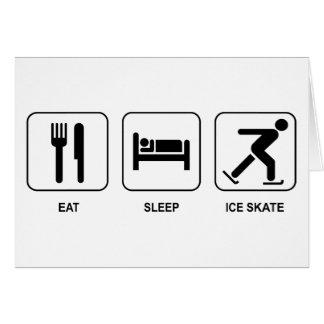 Eat Sleep Ice Skate Greeting Cards