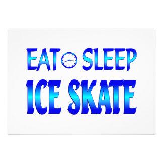 Eat Sleep Ice Skate Custom Invitation