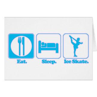 eat sleep ice skate greeting card