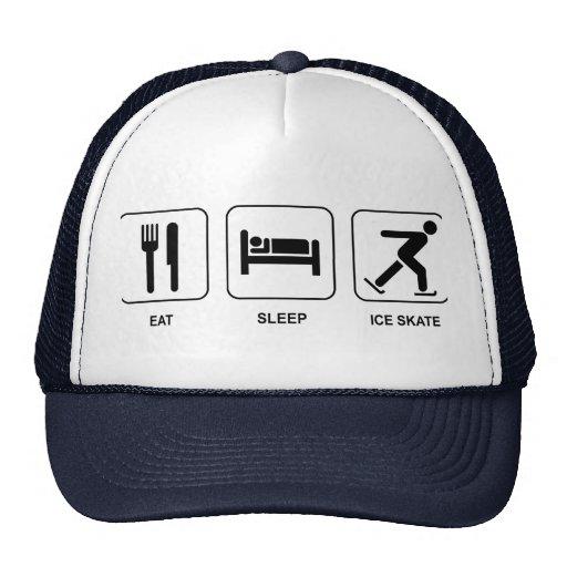 Eat Sleep Ice Skate Trucker Hats