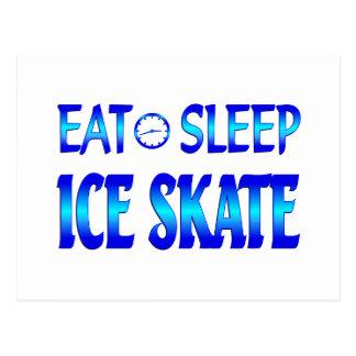 Eat Sleep Ice Skate Post Card